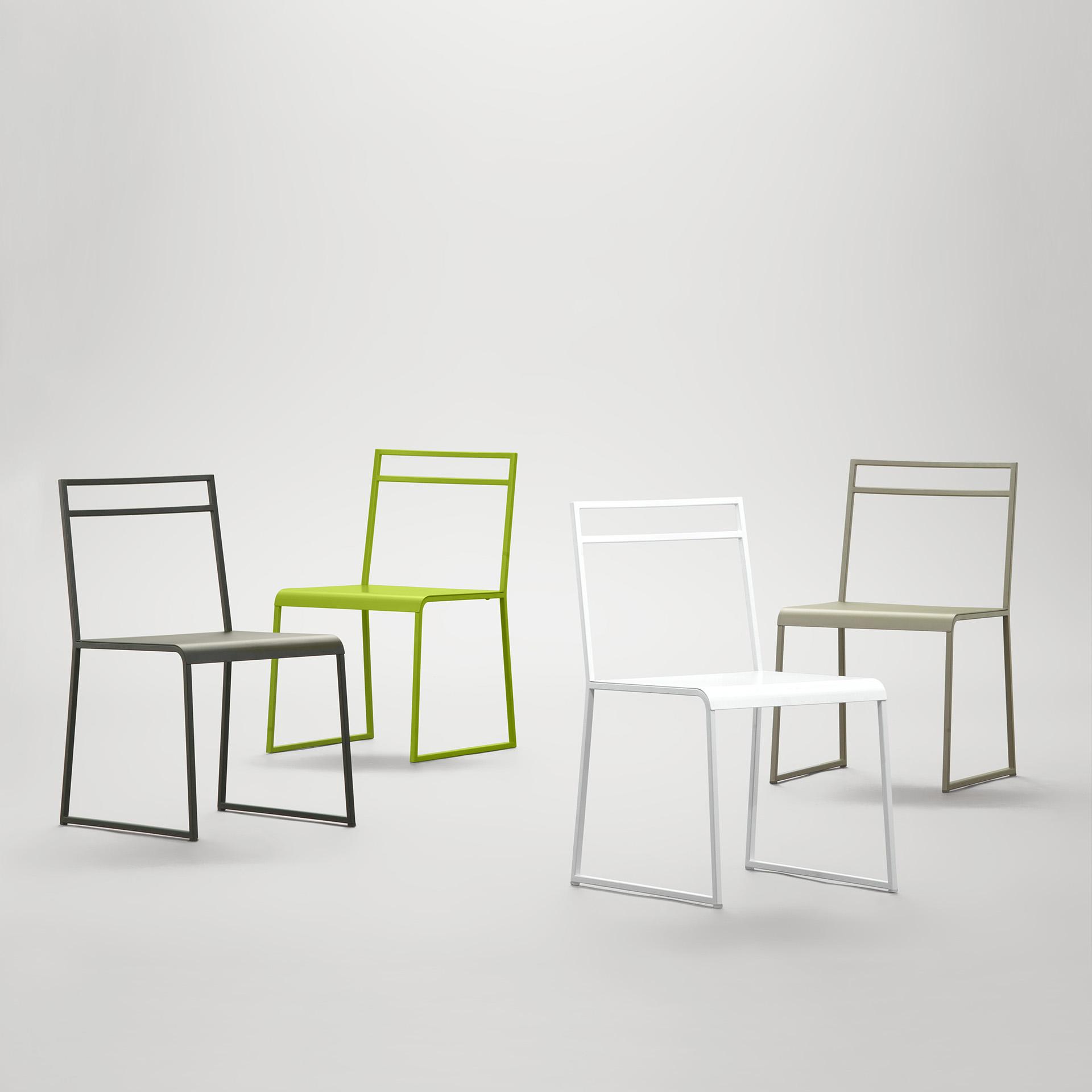 Sedia contemporanea in metallo Shere design Luca Casini