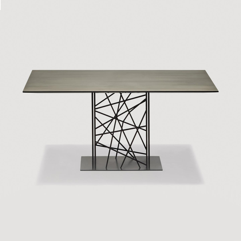 Tavolo artistico contemporaneo Deframe design Luca Casini