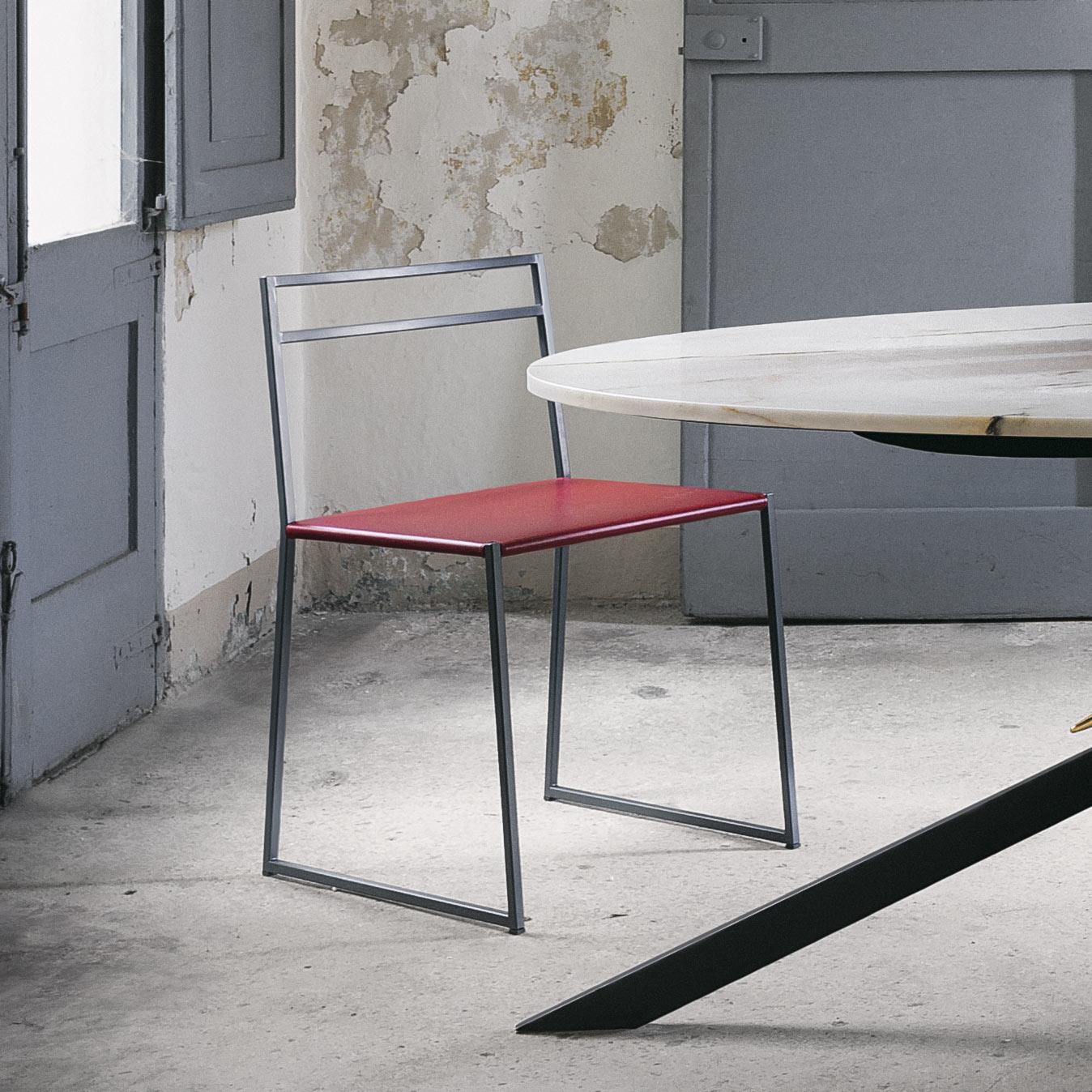 Sedia minimalista contemporanea design Luca Casini